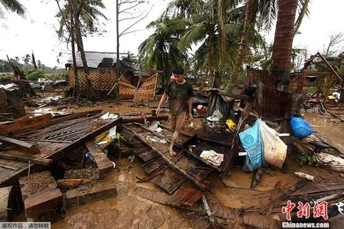 """台风""""宝霞""""已造成菲律宾1020人遇难"""